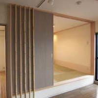 神戸市東灘区、高齢なご夫婦の方でしたので畳のある和室をリビングの横に設けました。のサムネイル